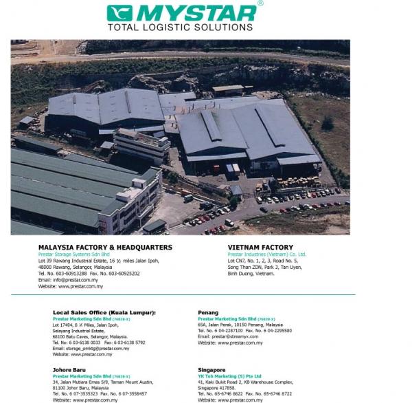 Prestar Storage System Sdn Bhd (MALAYSIA) (New Zealand) - Phone, Address
